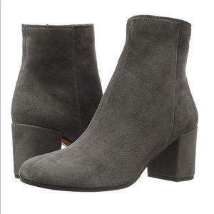 """VINCE """"Blakely"""" Grey Suede Block Heel Ankle Boot"""